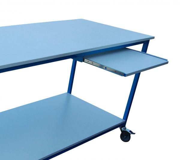 tablette table acier peint