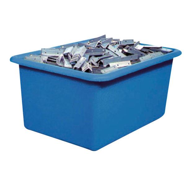Bac plastique bleu grand volume