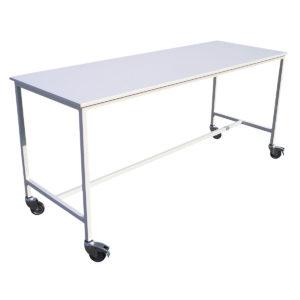 table acier peint et bois 1 niveau