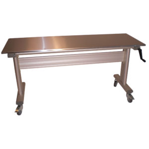 table ergonomique en inox